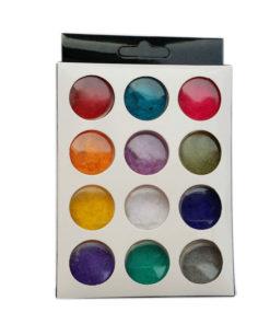 Fluwelen Nail-art Poeder 12 kleuren