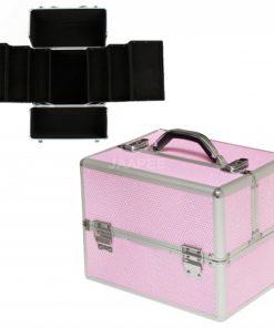 Koffer roze met zirkonen