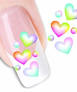 Water decal kleurrijke hartjes