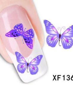 paarse vlinder sticker