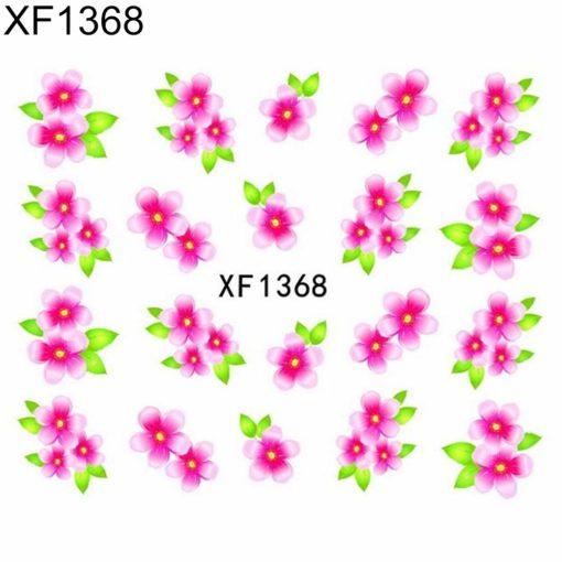 bloem roze sticker