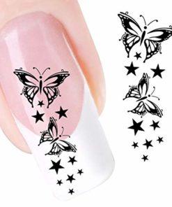 sterren vlinders sticker