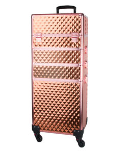 Koffer rose goud met zwenkwielen