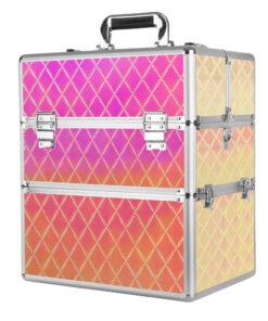 koffer meerkleurig ruit xl