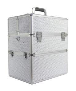 koffer xl zilver zirkonen