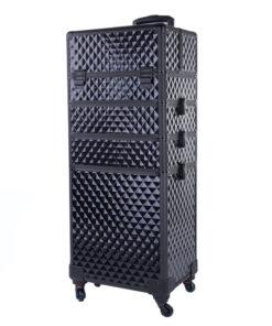 koffer zwart met zwenkwieltjes