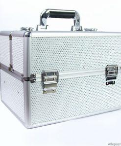 Nagelstyliste koffer wit zirkonen