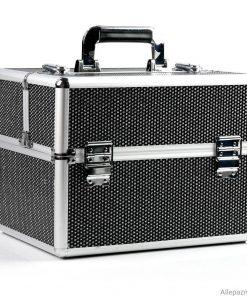 Nagelstyliste koffer zwart zirkonen